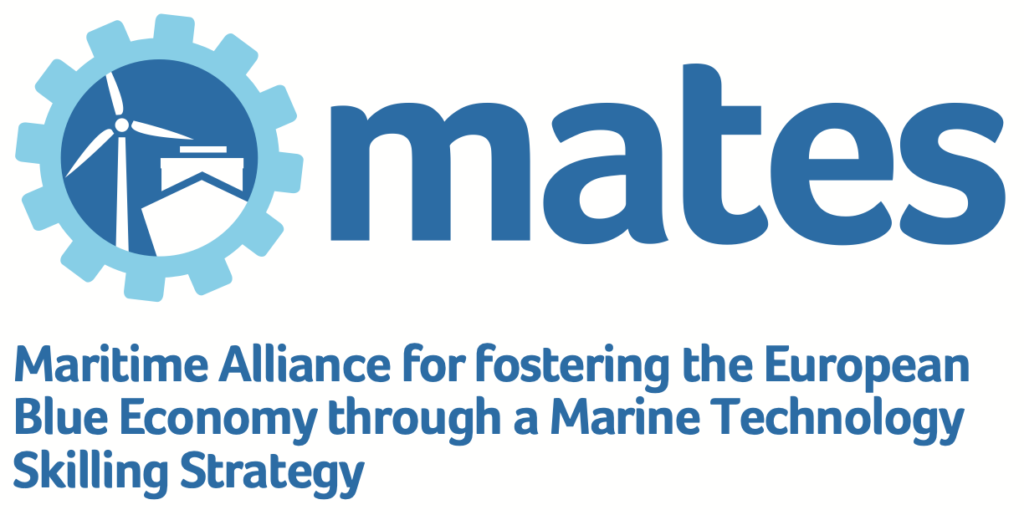 Maritime Alliance for fostering the European Blue Economy through a Marine Technology Skilling Strategy | Project Mates Logo